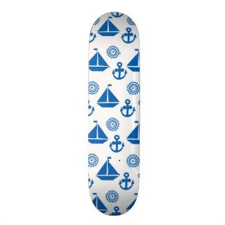 Cartoon Sail Boat Pattern Skateboard Deck