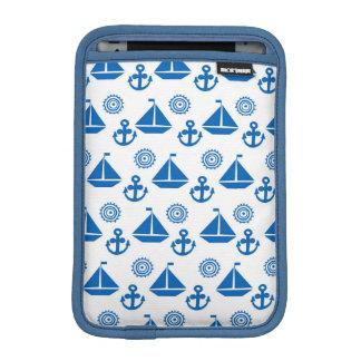 Cartoon Sail Boat Pattern Sleeve For iPad Mini