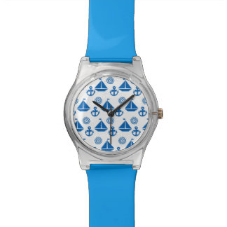 Cartoon Sail Boat Pattern Watch