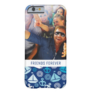 Cartoon Sailboats Pattern | Your Photo & Text Barely There iPhone 6 Case
