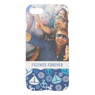 Cartoon Sailboats Pattern | Your Photo & Text iPhone 8/7 Case