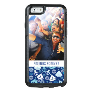 Cartoon Sailboats Pattern | Your Photo & Text OtterBox iPhone 6/6s Case
