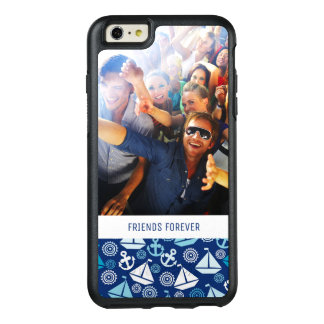 Cartoon Sailboats Pattern | Your Photo & Text OtterBox iPhone 6/6s Plus Case