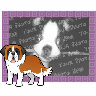Cartoon Saint Bernard Photo Sculpture Magnet