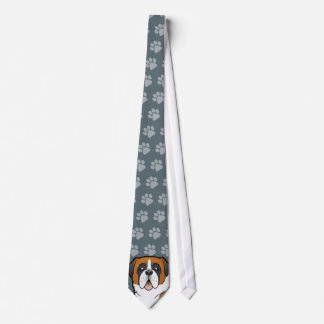 Cartoon Saint Bernard Tie