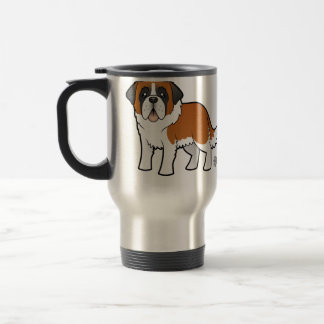 Cartoon Saint Bernard Travel Mug