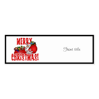 Cartoon Santa And Bags of Christmas Toys Business Cards