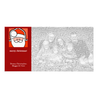 Cartoon Santa Christmas Card