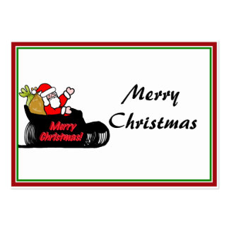 Cartoon Santa's Sleigh Ride Large Business Cards (Pack Of 100)