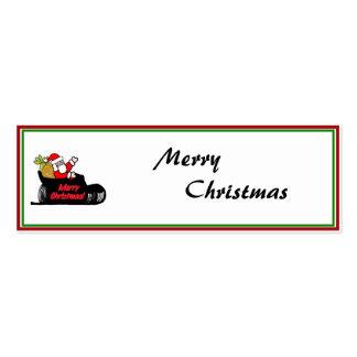 Cartoon Santa's Sleigh Ride Business Card