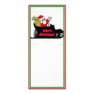 Cartoon Santa's Sleigh Ride Rack Card Design