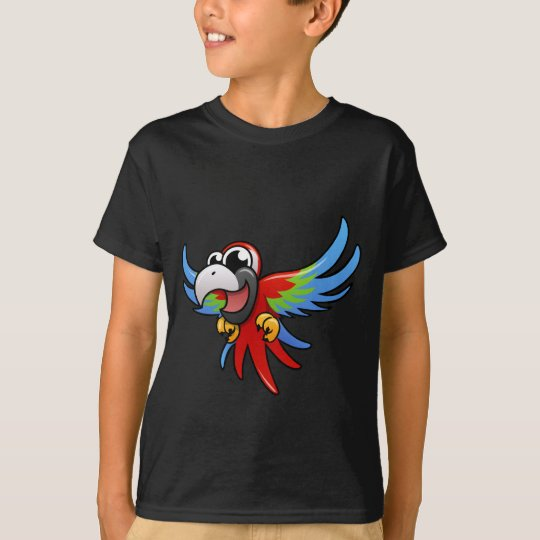 Cartoon Scarlet Macaw T-Shirt