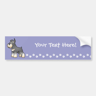 Cartoon Schnauzer Bumper Sticker