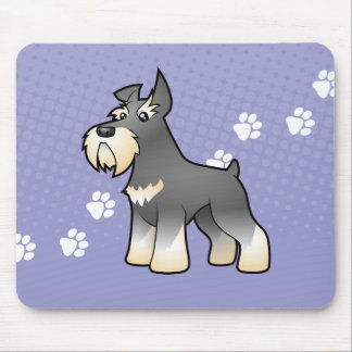 Cartoon Schnauzer Mouse Mat