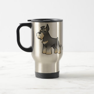 Cartoon Schnauzer Travel Mug
