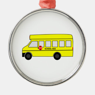 Cartoon School Bus Christmas Ornament