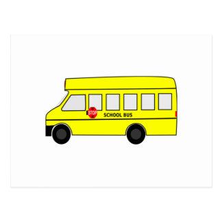 Cartoon School Bus Post Cards