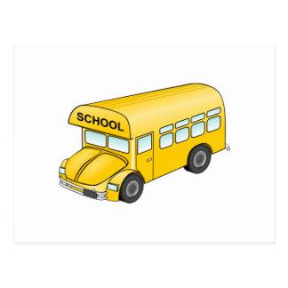 Cartoon School Bus Postcard