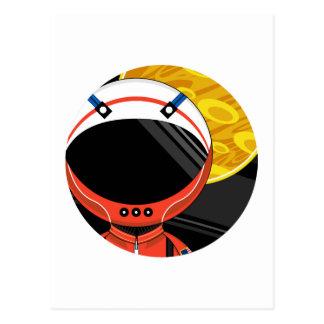 Cartoon Science Fiction Spaceman Postcard