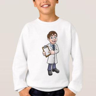 Cartoon Scientist or Lab Technician Character Sweatshirt
