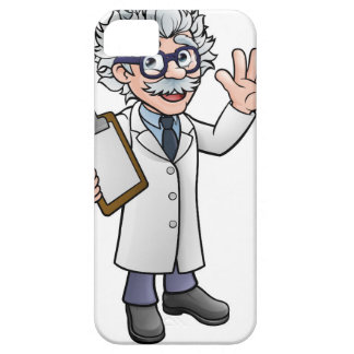 Cartoon Scientist Professor with Clipboard Case For The iPhone 5