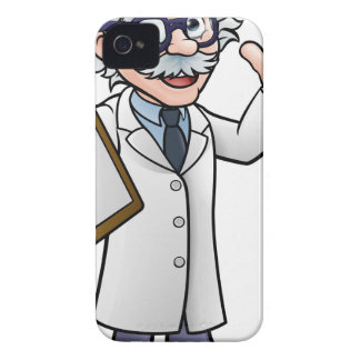 Cartoon Scientist Professor with Clipboard iPhone 4 Cover