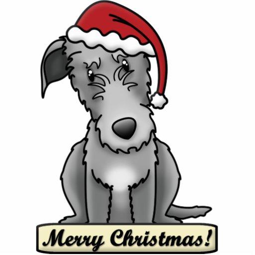Cartoon Scottish Deerhound Christmas Ornament Photo ...