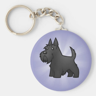 Cartoon Scottish Terrier Key Ring