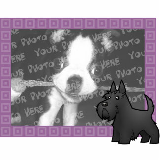Cartoon Scottish Terrier Photo Sculpture Magnet