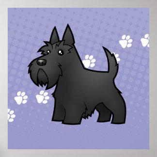 Cartoon Scottish Terrier Poster