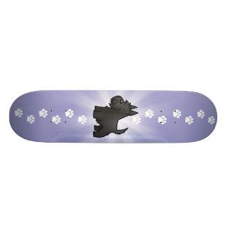 Cartoon Scottish Terrier Skate Deck