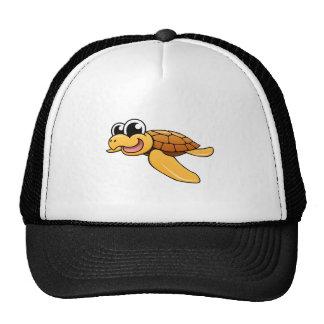 Cartoon Sea Turtle Trucker Hats