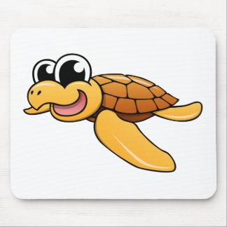 Cartoon Sea Turtle Mousepads