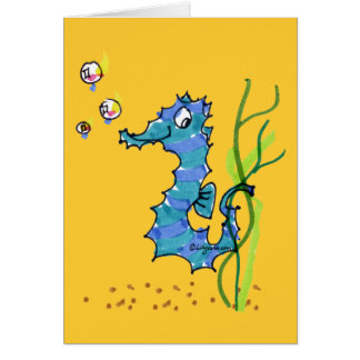 Cartoon Seahorse Cute Card