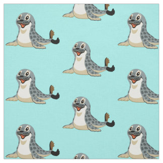 cartoon seal fabric