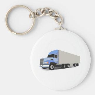 Cartoon Semi Truck Key Chains