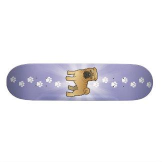 Cartoon Shar Pei 19.7 Cm Skateboard Deck
