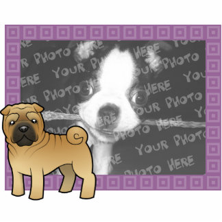 Cartoon Shar Pei Photo Sculpture Magnet