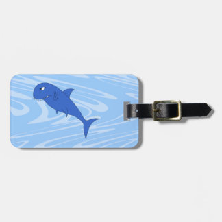 Cartoon Shark. Luggage Tag