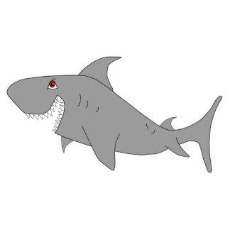 Cartoon Shark Sculpture Keychain Acrylic Cut Out
