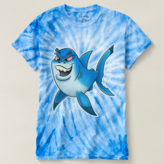 Cartoon shark shirt red eyes