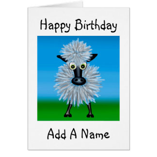 Cartoon Sheep Card