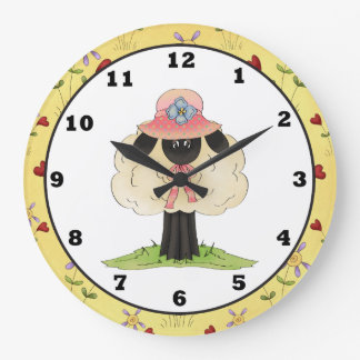 Cartoon Sheep clock