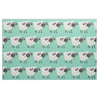 cartoon sheep fabric