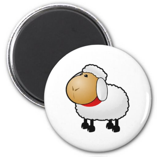 Cartoon Sheep Refrigerator Magnets