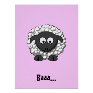 Cartoon Sheep Poster