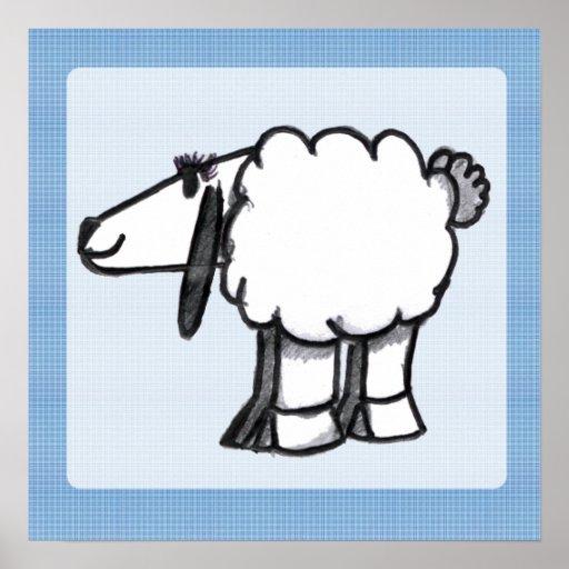 Cartoon Sheep Print