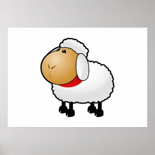 Cartoon Sheep Posters