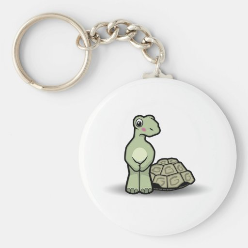 Cartoon Shell-less Tortoise Keychain