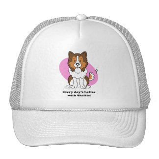 Cartoon Sheltie Hat